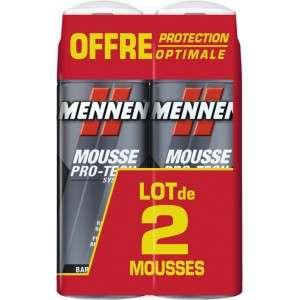 Lot de 2 Mousses à Raser Mennen Pro-Tech Système Barbe Difficile - 2 x 250ml (Via 2,49 € sur Carte de Fidélité)