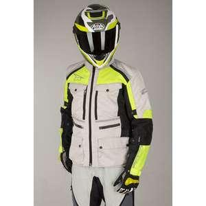 Blouson Moto Axo Ford - Gris/Jaune, Tailles du S au XL (motobuykers.fr)