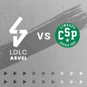 Place gratuite pour le Match LDLC Asvel VS Limoges CSP - Dimanche 22 septembre à 16h (Villeurbanne 16h)