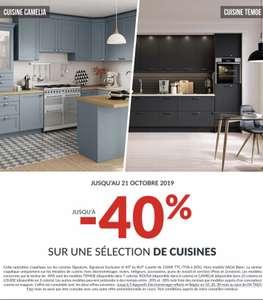 40% de réduction sur une sélection de cuisines - Ex : Louise (3 coloris)