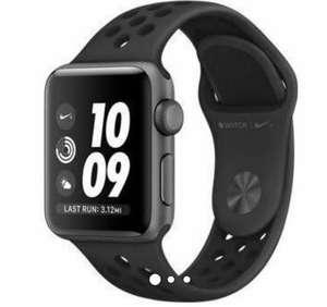 Montre connectée Apple Watch Series 3 Nike+ GPS (Noir) - 38 mm, Bracelet sport (209€ avec le code WELCOMESEP)