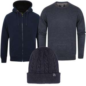 Lot de 1 veste à capuche + 1 pull + 1 bonnet pour 25£ (28,92€) - Tailles et coloris au choix
