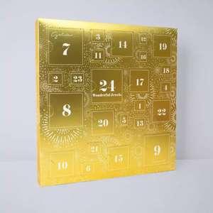 Collection calendrier de l'avent - 24 bijoux, 29 x 30 x 3 cm 5 coloris aux choix