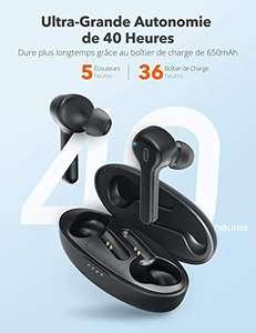 Écouteurs sans fil TaoTronics - Bluetooth 5.0 (Vendeur tiers)