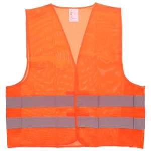 Gilet de sécurité - Jaune ou Orange, 100% polyester, Taille unique