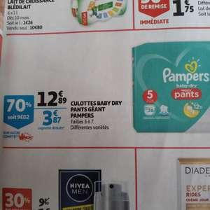 Culottes Pampers Baby Dry Nappy Pants - Taille 3 à 7 (via 9.02€ sur la carte)