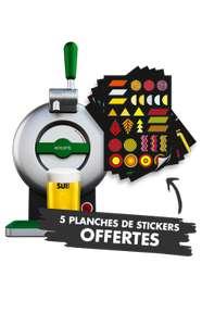 Tireuse à bière Krups The Sub Heineken YY2837FD + 5 planches de stickers
