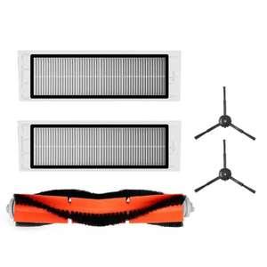 Accessoires pour Xiaomi Mijia Roborock S50 S51 S55 - 1 brosse principale, 2 brosses latérales, 2 filtres