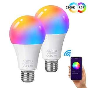 Pack de 2 Ampoules connectées Aisirer - E27 (Vendeur Tiers)