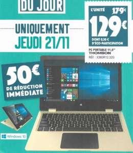 """PC portable 11,6"""" Thomson X360R12.32G - 32Go, 2Go de Ram, Leclerc Saint dizier (52)"""