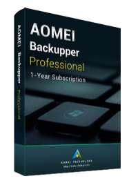 Licence d'un an pour le logiciel AOMEI Backupper Professional (Dématérialisé)