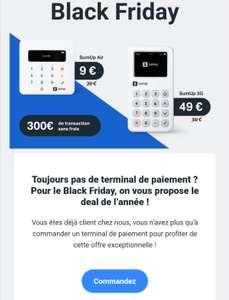 [Déjà clients] Terminal de paiement par carte bancaire SumUp Air à 9€ ou SumUp 3G à 49€