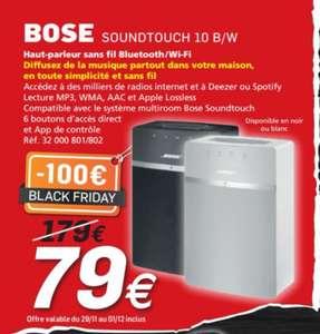 Enceinte sans-fil Multiroom Bose SoundTouch 10 - Noir ou Gris (Frontaliers Luxembourg)