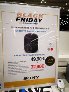 Enceinte bluetooth Sony srs-xb12 - Leclerc ste Eulalie (33)