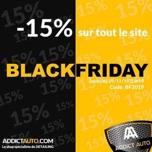 15% de réduction sur tout le site (Addictauto.com)