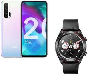 "Smartphone 6.26"" Honor 20 Pro - Double SIM, RAM 8 Go, 256 Go, icelandic frost + Montre connectée Honor Watch Magic Black (Via ODR 100€)"