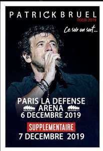 Concert de Patrick Bruel à la Défense Arena Catégorie B