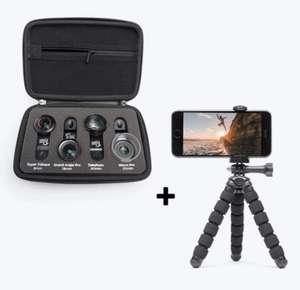 Pack Objectifs pro pixter pour smartphone + Trépied Flexible (pixter.co)