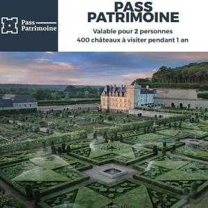 Pass Patrimoine pour 2 Personnes - 400 lieux uniques à visiter en illimité pendant 1 an
