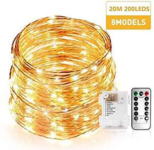 Guirlandes lumineuses à LED DDPUK - 20m, 200 LEDs (vendeur tiers)