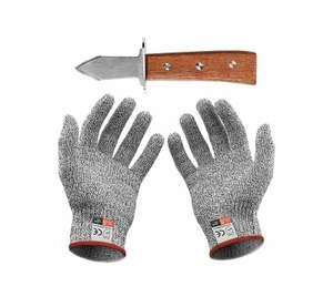 Couteau à huîtres + Gants Anti-coupures (vendeur tiers)