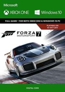 Jeu Forza Motorsport 7 sur Xbox One et PC (Dématérialisé)