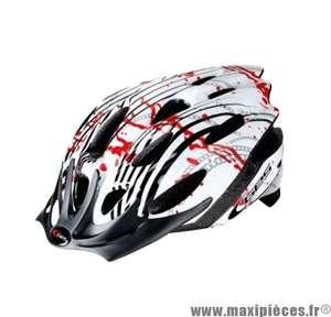 Casque vélo route/VTT Ges Genius - 58-62cm, Rouge/Blanc/Noir
