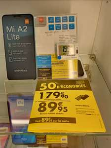 "Smartphone 5.84"" Xiaomi Mi A2 Lite - 64 Go (via 89.95€ sur la carte fidélité) - Guingamp (22)"