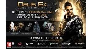 Deus Ex Mankind Divided Edition avec Steelbook sur Xbox One