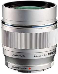 Objectif pour appareil photo Olympus M.Zuiko Digital ED - 75 mm f/1.8 - Argent