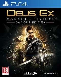 Deus Ex Mankind Divided - Day One Edition sur PS4 (+0.23€ offerts en SuperPoints)