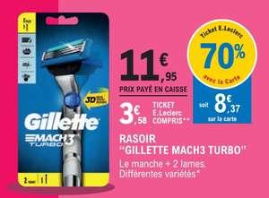 Rasoir Gillette Mach3 Turbo + 2 lames - Différentes variétés (via 8,37€ sur le compte fidélité)