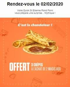 3 Crêpes offertes pour l'achat de 2 Magic Box - (Saint-Etienne Le Rond Point 42)