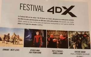 [Gaumont Pathé] Place de cinéma 4DX à 8€ sur une sélection de 4 films (2€ pour les abonnés CinéPass)