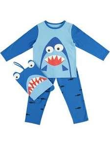 Sélection de Pyjamas Enfant à 10€ - Ex : Pyjama Requin - 3 à 10 ans