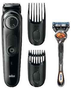 Tondeuse Electrique Sans-fil Barbe & Cheveux Braun BT5042 + 2 Sabots + Rasoir Gillette Fusion Proglide Flexball