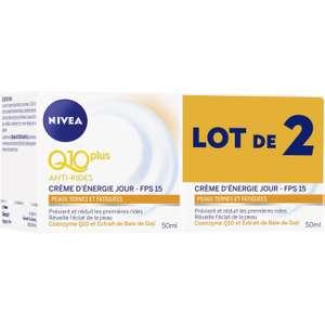Lot de 2 pots de crème-visage Nivea Q10 Plus Anti-Rides FPS15 - peaux ternes et fatiguées (via 14.98€ en fidélité) - Nanteuil-lès-Meaux (77)