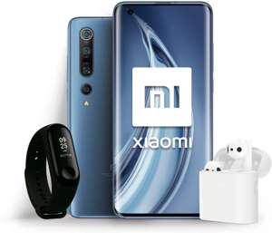 """Smartphone 6.67"""" Xiaomi Mi 10 Pro (full HD+, SnapDragon 865, 8Go RAM, 256Go, version ES) + bracelet connecté Mi Band 3 + écouteurs Mi True 2"""