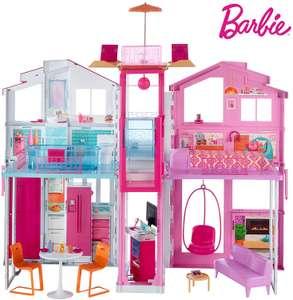 Grande maison de poupées Barbie DLY32 - 2 étages, 4 pièces