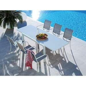 Table de jardin extensible + 6 chaises