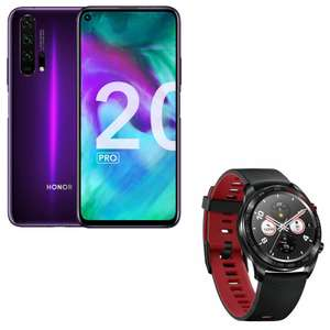 "Smartphone 6.26"" Honor 20 Pro - Full HD+, Kirin 980, RAM 8 Go, 256 Go (Phantom Blue ou Black) + Montre connectée Honor MagicWatch"