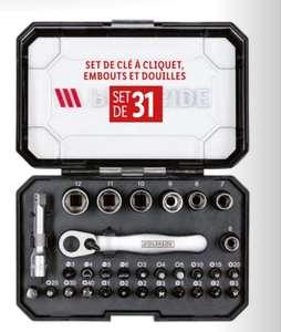 Sélection d'outils à main Parkside - Ex : Set de clé à cliquet, embout et douilles, 31 pièces