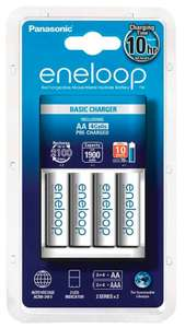 Lot de 4 Piles Rechargeables Eneloop + Chargeur - 1900 mAh