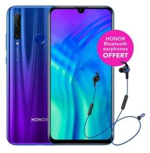 "Smartphone 6.21"" Honor 20 Lite (Full HD+, Kirin 710, RAM 4 Go, 128 Go) + Écouteurs sans-fil Bluetooth"