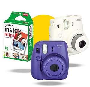 Pack appareil photo instantané Fujifilm Instax Mini 8 + films - Blanc ou Violet