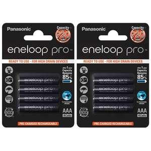 Lot de 8 piles rechargeables Panasonic Eneloop Pro - 930 mAh, AAA, Ni-MH