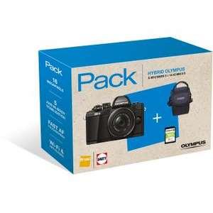 Pack Appareil photo Hybride Olympus E-M10 Mark II Noir + Objectif 14-42 mm f/1:3.5-5.6 II R Noir + Fourre-tout + Carte mémoire SDHC 16 Go