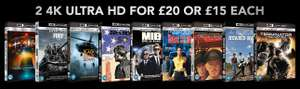 2 Blu-Ray 4K UHD pour 22,50€ - Ex : Bad Boys I & II UHD 4K à 22,50€ (Import UK)