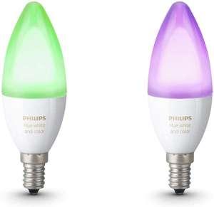 Lot de 2 ampoules connectées Philips Hue White & Color Ambiance E14