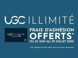 [Nouveaux Abonnés] Frais d'adhésion offerts (30€) sur tout nouvel abonnement UGC Illimité